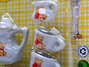 Набор фарфоровой посуды с чайником, 005B, отзывы