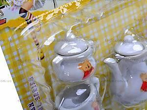 Набор фарфоровой посуды с чайником, 005B, цена