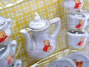 Набор фарфоровой посуды с чайником, 005B, детские игрушки