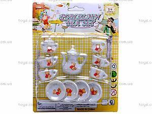 Набор фарфоровой посуды с чайником, 005B