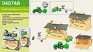 Набор «FARM WORLD» с трактором и ангаром, 0407AB, отзывы