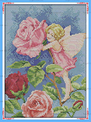 Набор с нитками «Фея цветов» для рукоделия, K588