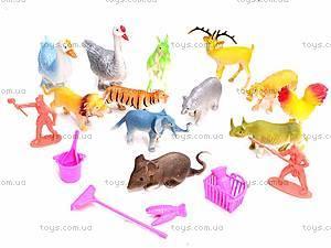Набор фигурок диких животных, 0551-2