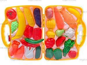 Набор фруктов и овощей в чемоданчике, 849-7