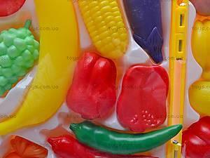 Набор фруктов и овощей в чемоданчике, 849-7, фото