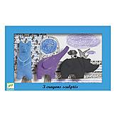 Набор фигурной пастели «Медведь, слон, носорог», DJ08869, купить