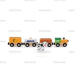 Набор фигурок «Поезд-ферма» для ж/д от Viga Toys, 50821