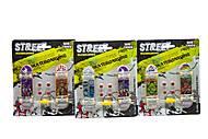 """Набор фингербордов """"Street"""" с колёсами и отвёрткой (2 шт) ассортимент, 238-3, детский"""