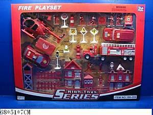 Набор игровой «Пожарная часть», 166-059