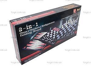 Набор игровой «Шахматы, шашки, нарды», 11222M