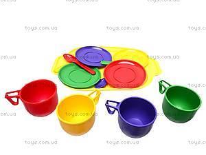 Набор игрушечной посуды с подносом, Юника, фото