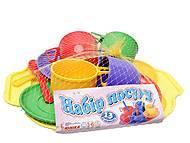 Набор игрушечной посуды с подносом, Юника, купить