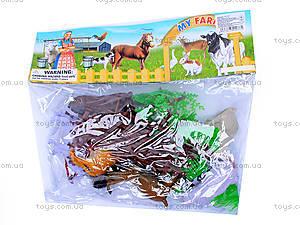 Набор игрушечных животных «Ферма», 8301, фото