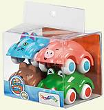 Набор игрушечных машинок-мини «Зверятки», 81150, фото