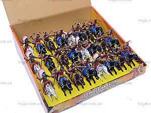 Набор индейцев на лошадях, 7077-110, детские игрушки