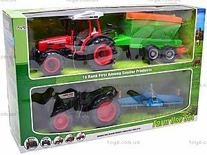 Набор инерционных детских тракторов, 1011C, купить