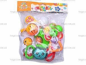 Набор из семи детских погремушек , 09038, игрушки