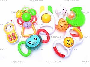Набор из семи детских погремушек , 09038, детские игрушки