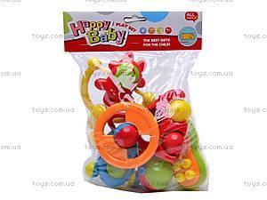 Набор из шести погремушечек, BM3306A, детские игрушки