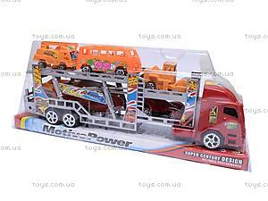 Набор из трейлера и машинок, 921-5, цена