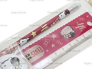 Набор канцелярский Hello Kitty Elvis, HKBB-US1-5020-H, фото