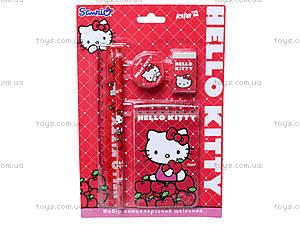 Набор канцелярский с блокнотом Hello Kitty, HK13-147К