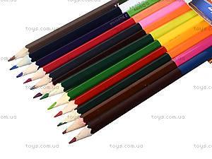 Набор карандашей двухцветных, 12 штук, 290248, купить