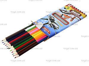 Набор карандашей двухцветных, 12 штук, 290248, фото