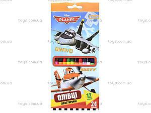 Набор карандашей двухцветных, 12 штук, 290248