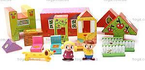 Набор картонных кубиков «Домик», DJ09107, купить
