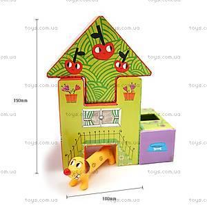 Набор картонных кубиков «Домик», DJ09107, фото