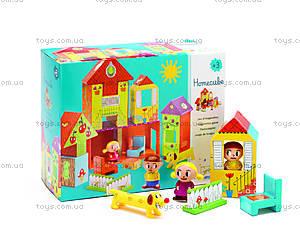 Набор картонных кубиков «Домик», DJ09107, цена