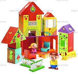 Набор картонных кубиков «Домик», DJ09107