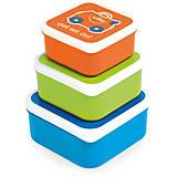 Набор контейнеров для еды голубой-оранжевый-зеленый, 0299-GB01, отзывы