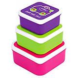 Набор контейнеров для еды розовые, 0300-GB01, фото