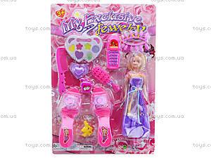 Набор косметики с куклой и туфельками, 888-92G