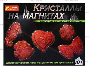 Набор «Кристаллы на магнитах», красный, 0385, фото