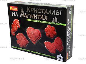 Набор «Кристаллы на магнитах», красный, 0385