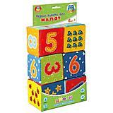 Набор кубиков с цифрами «Малятко», VT1401-04, фото