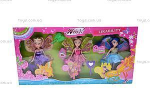 Набор кукол «Винкс», 3 куклы, WX776-2, игрушки