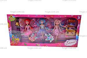 Набор кукол Winx, с косметикой, 63003, цена