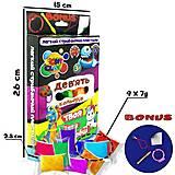 Набор легкого прыгающего пластилина 9 цветов неоновые, 70045