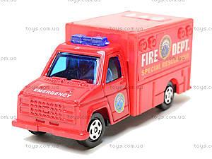 Набор машинок «Пожарная техника», 6103MS, цена