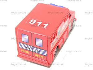 Набор машинок «Пожарная техника», 6103MS, игрушки