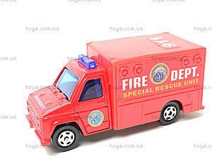 Набор машинок «Пожарная техника», 6103MS, детские игрушки
