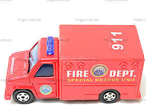 Набор машинок «Пожарная техника», 6103MS, toys.com.ua