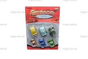Набор машинок «Тачки», 6 штук, 2813-6Т, магазин игрушек
