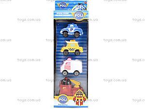 Набор игрушечных машин «Робокар Поли», 660-199, игрушки