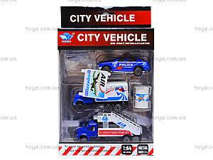 Набор металлических машинок City vehicle, JP401, отзывы