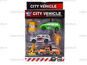 Набор металлических машинок City vehicle, JP401, цена